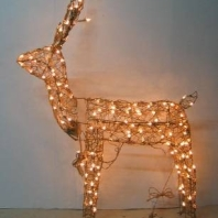 "48"" 3D grapevine Animated Standing Buck with csa 150Lights"